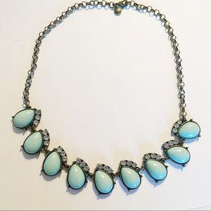 J. Crew turquoise rhinestone statement necklace